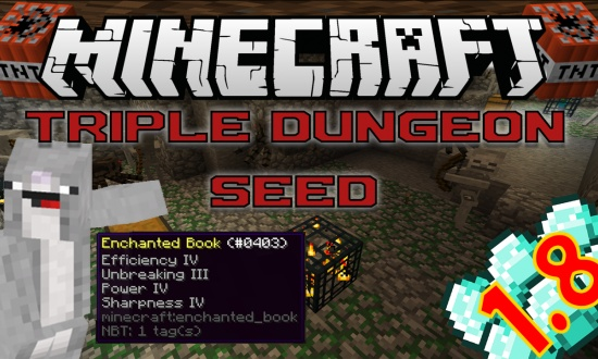 Triple Dungeon Double Village MINECRAFT SEED 2138374464889032671