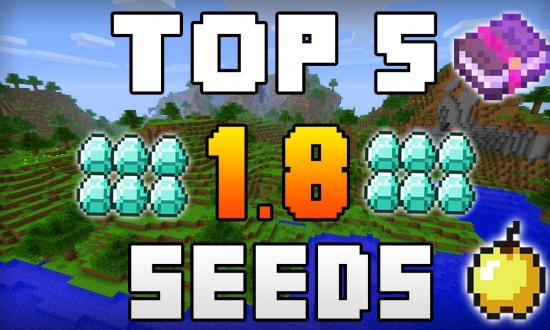 Top 5 1.8 Seeds  MINECRAFT SEED Top 5 Seeds