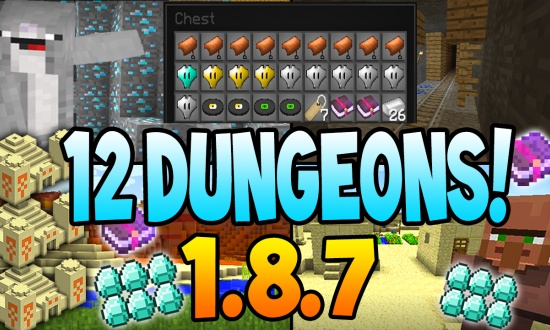 1.8.7 Seed - 12 Dungeons & Realistic Terrain MINECRAFT SEED 4815162342