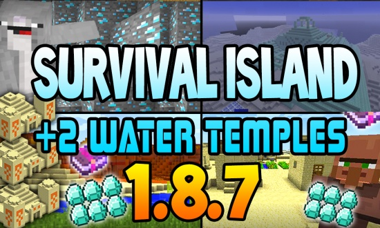 2 water temples on island MINECRAFT SEED 4829591718849469360