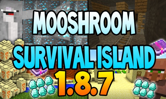 Mooshroom survival island MINECRAFT SEED 9925
