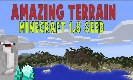 Amazing Terrain (Perfect Mountains, beaches & Building Zones!)  MINECRAFT SEED -7492801512473941435
