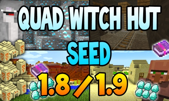 Quad Witch Spawner System  MINECRAFT SEED 122715510869867929