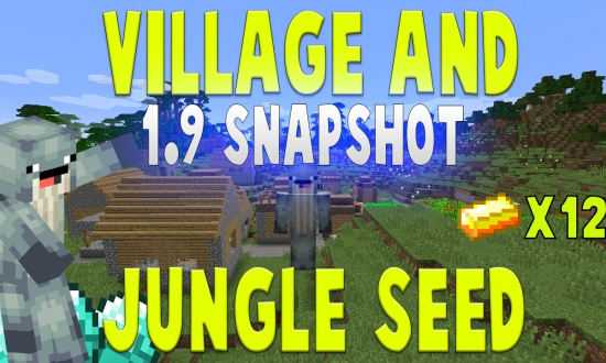 Amazing Spawn! Double Village & Jungle (1.9 & LOWER)  MINECRAFT SEED -4100875858698083715