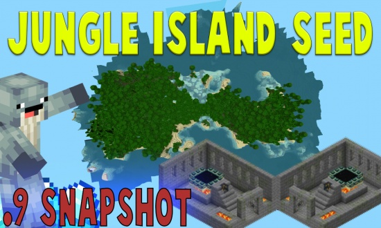 Amazing Jungle Island & Exposed StrongHold!  MINECRAFT SEED 6575244926941671832
