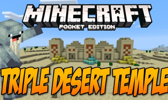 Triple Desert Temple! MCPE  MINECRAFT SEED empire