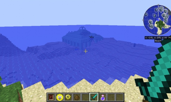 ocean temple at spawn - Minecraft Seeds