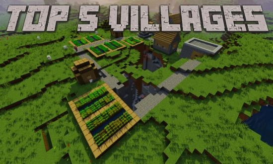 Top 5 Minecraft Village Seeds 1 9 - Minecraft Seeds