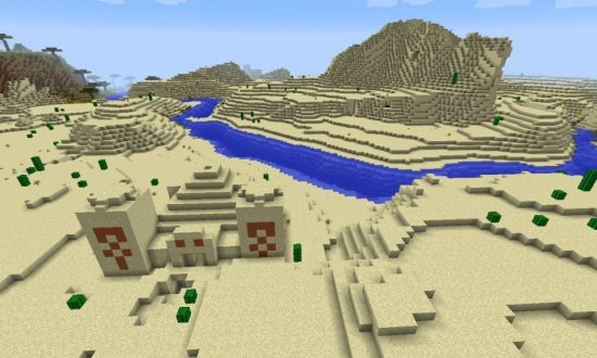 Desert Temple, Village, and Diamonds Seed! - Minecraft Seeds