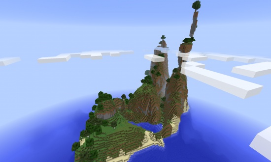 Cool amplified survival island - Minecraft Seeds