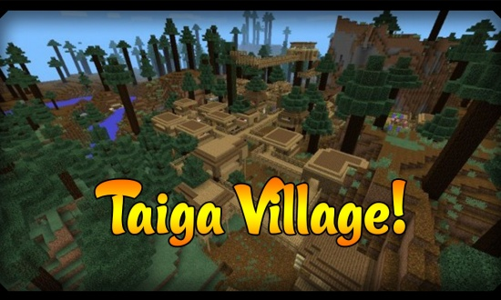 Taiga Village At Spawn Diamonds Minecraft Seeds