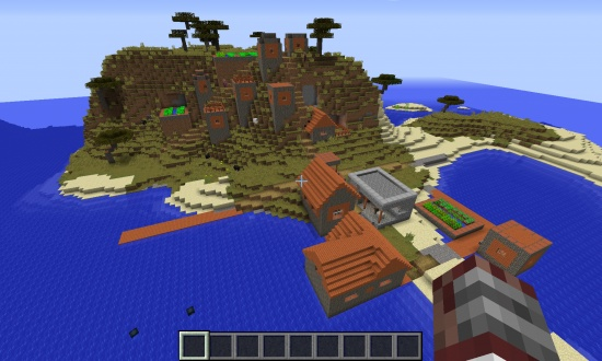 Survival island + Water temple + Nearby Island Village - Minecraft Seeds