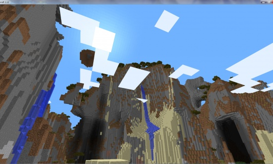 mine craft video epic mountains floating islands waterfalls 2463