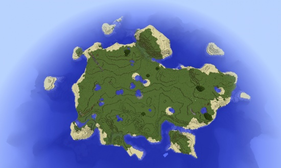 Large Survival Island Minecraft Seeds