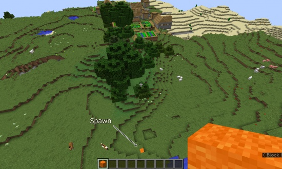 Village near spawn, Nether Fortress near spawn - Minecraft Seeds