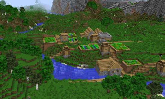 Amplified spruce village at spawn - Minecraft Seeds