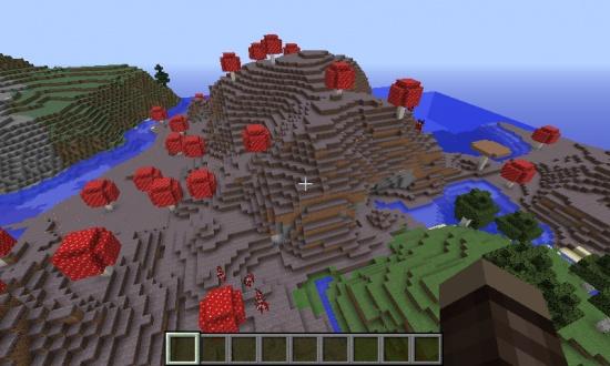 Landlocked Mushroom Biome Spawn Minecraft Seeds