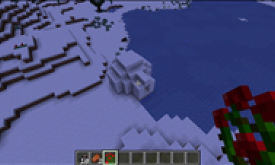 3 Ravines Touching With Dungeon And A Igloo With A Dungeon In Its