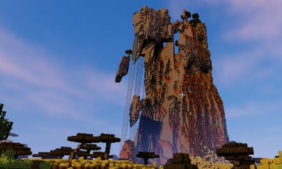 Huge Mountain near spawn! - Minecraft Seeds