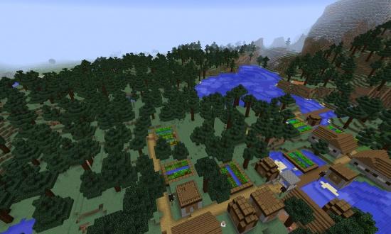 minecraft village seed pc 1.14