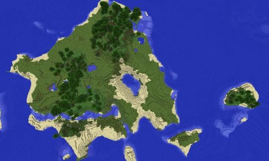 Great Looking Medium Sized Island Minecraft Seeds