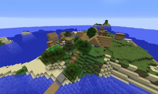 Island Village Minecraft Seeds