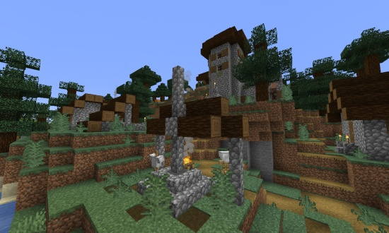 minecraft seeds with villages 1.14
